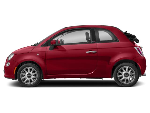 Brillante Red 2018 FIAT 500c Pictures 500c Lounge Cabrio photos side view