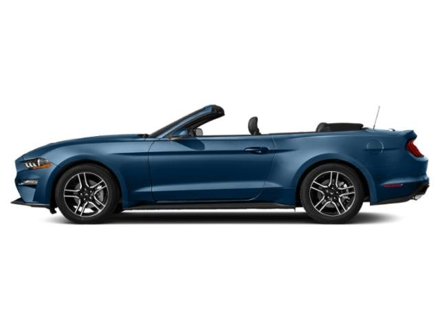 Lightning Blue Metallic 2018 Ford Mustang Pictures Mustang EcoBoost Convertible photos side view