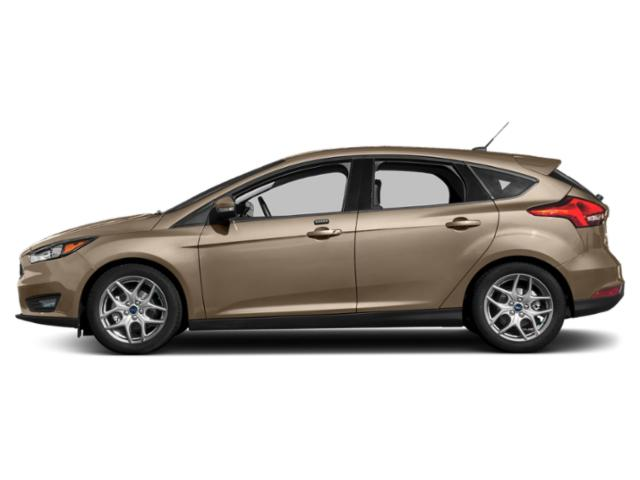 White Gold Metallic 2018 Ford Focus Pictures Focus SEL Hatch photos side view