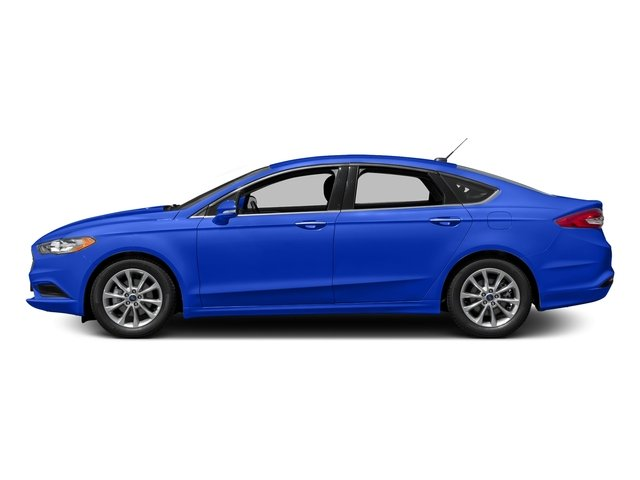 Blue Metallic 2018 Ford Fusion Pictures Fusion SE FWD photos side view