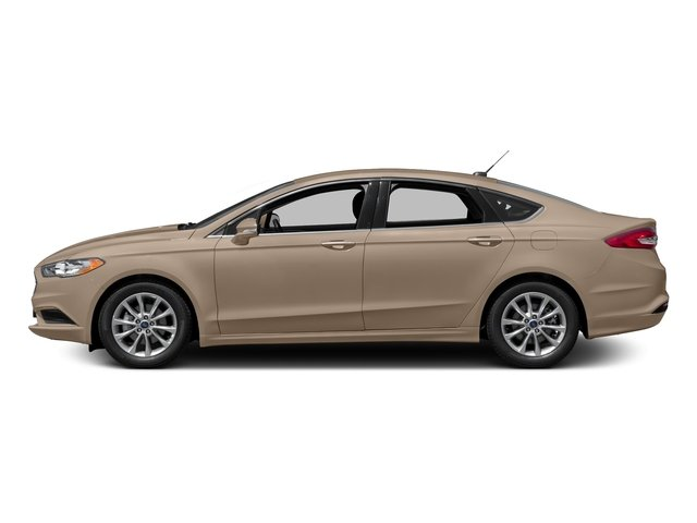 White Gold Metallic 2018 Ford Fusion Pictures Fusion SE FWD photos side view