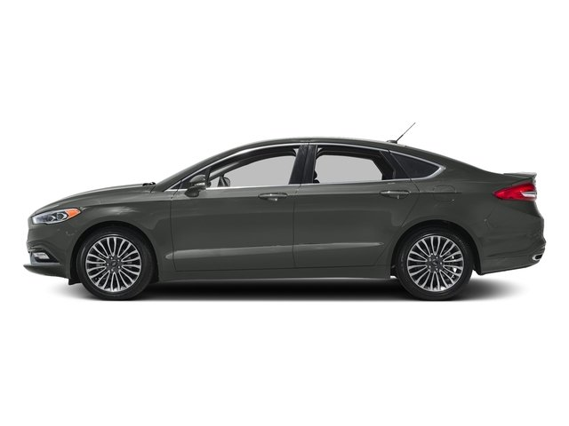 Magnetic Metallic 2018 Ford Fusion Pictures Fusion Titanium AWD photos side view
