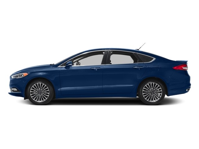 Lightning Blue 2018 Ford Fusion Pictures Fusion Titanium AWD photos side view