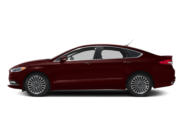 Burgundy Velvet Metallic Tinted Clearcoat 2018 Ford Fusion Pictures Fusion Titanium AWD photos side view