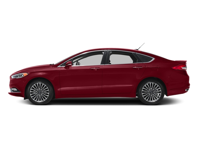 Ruby Red Metallic Tinted Clearcoat 2018 Ford Fusion Pictures Fusion Titanium AWD photos side view