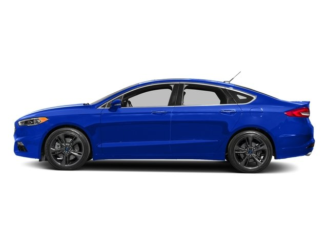 Blue Metallic 2018 Ford Fusion Pictures Fusion Sport AWD photos side view