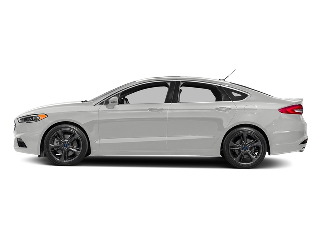 Oxford White 2018 Ford Fusion Pictures Fusion Sport AWD photos side view