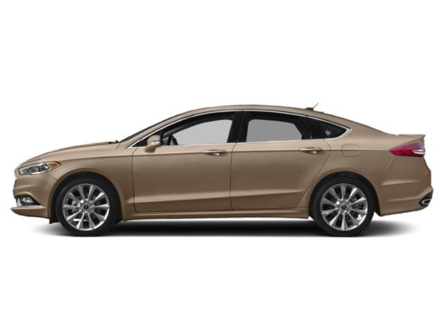 White Gold Metallic 2018 Ford Fusion Pictures Fusion Platinum AWD photos side view