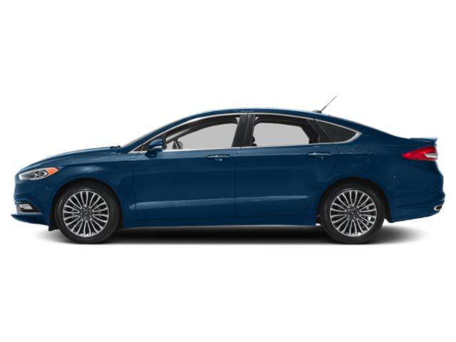 Lightning Blue 2018 Ford Fusion Pictures Fusion Titanium FWD photos side view