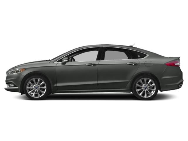 Magnetic Metallic 2018 Ford Fusion Pictures Fusion Platinum AWD photos side view