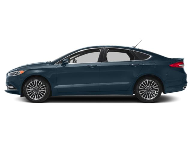 Blue Metallic 2018 Ford Fusion Pictures Fusion Platinum AWD photos side view