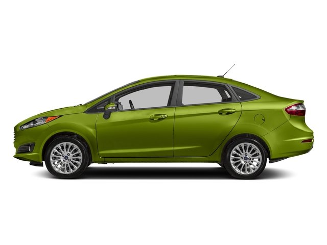 Outrageous Green Metallic Tinted Clearcoat 2018 Ford Fiesta Pictures Fiesta Titanium Sedan photos side view