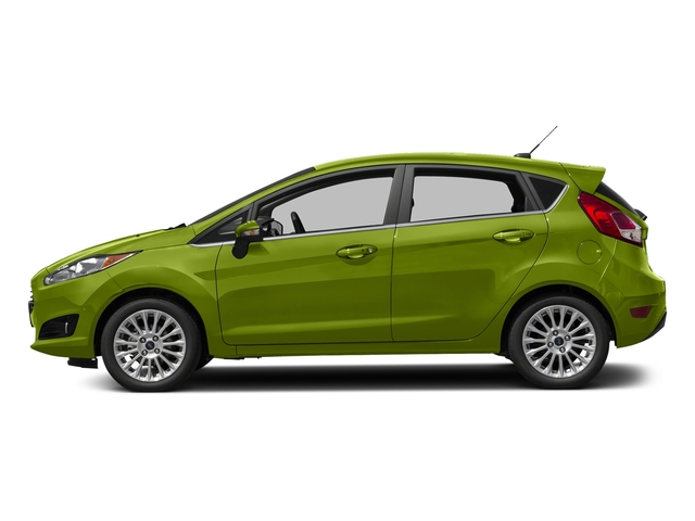 Outrageous Green Metallic Tinted Clearcoat 2018 Ford Fiesta Pictures Fiesta Titanium Hatch photos side view