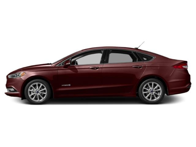 Burgundy Velvet Metallic Tinted Clearcoat 2018 Ford Fusion Hybrid Pictures Fusion Hybrid SE FWD photos side view