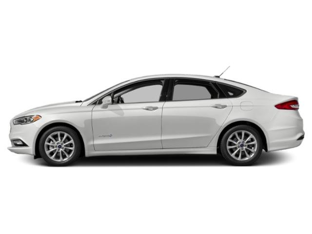 Oxford White 2018 Ford Fusion Hybrid Pictures Fusion Hybrid SE FWD photos side view