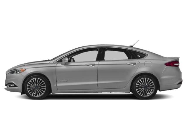 Ingot Silver Metallic 2018 Ford Fusion Hybrid Pictures Fusion Hybrid Platinum FWD photos side view