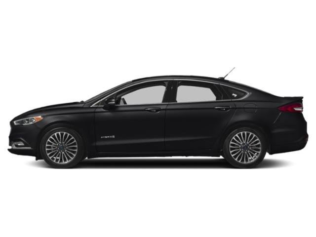 Shadow Black 2018 Ford Fusion Hybrid Pictures Fusion Hybrid Platinum FWD photos side view
