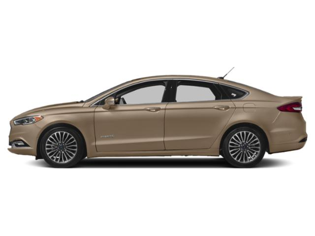 White Gold Metallic 2018 Ford Fusion Hybrid Pictures Fusion Hybrid Platinum FWD photos side view