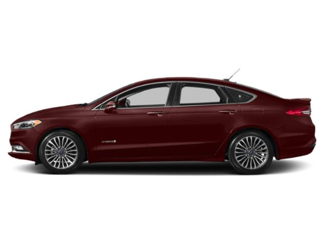 Burgundy Velvet Metallic Tinted Clearcoat 2018 Ford Fusion Hybrid Pictures Fusion Hybrid Titanium FWD photos side view