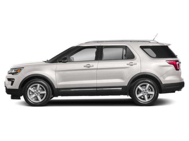 White Platinum Metallic Tri-Coat 2018 Ford Explorer Pictures Explorer Sport 4WD photos side view