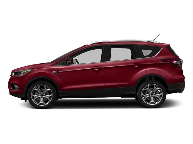 Ruby Red Metallic Tinted Clearcoat 2018 Ford Escape Pictures Escape Titanium FWD photos side view