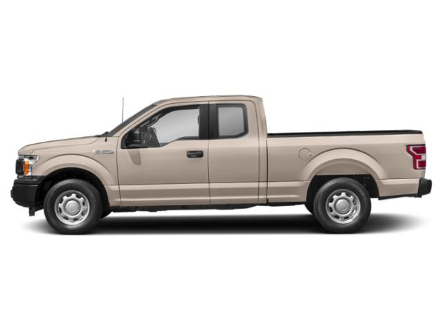 White Gold 2018 Ford F-150 Pictures F-150 LARIAT 2WD SuperCab 6.5' Box photos side view