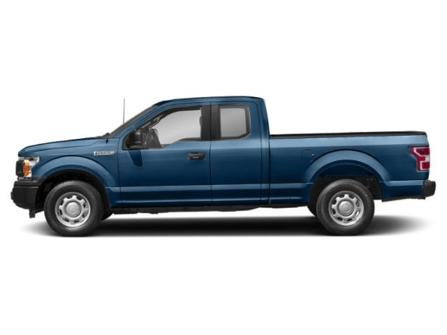 Lightning Blue 2018 Ford F-150 Pictures F-150 XL 4WD SuperCab 8' Box photos side view