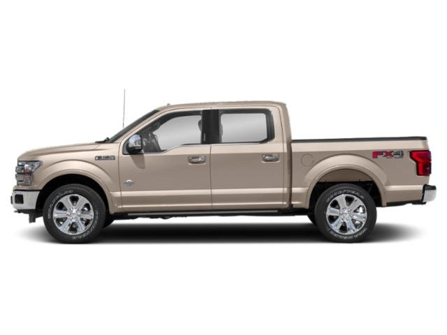 White Gold 2018 Ford F-150 Pictures F-150 Crew Cab Lariat 4WD photos side view