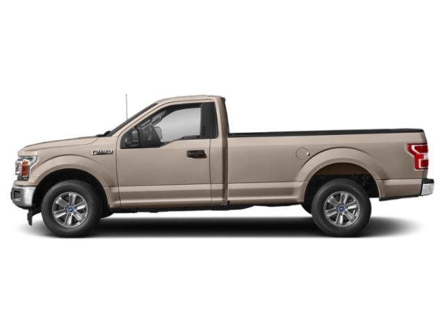 White Gold 2018 Ford F-150 Pictures F-150 XLT 2WD Reg Cab 8' Box photos side view
