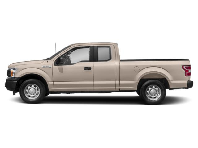 White Gold 2018 Ford F-150 Pictures F-150 LARIAT 4WD SuperCab 8' Box photos side view