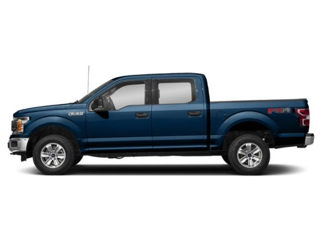 Lightning Blue 2018 Ford F-150 Pictures F-150 Crew Cab XLT 4WD photos side view
