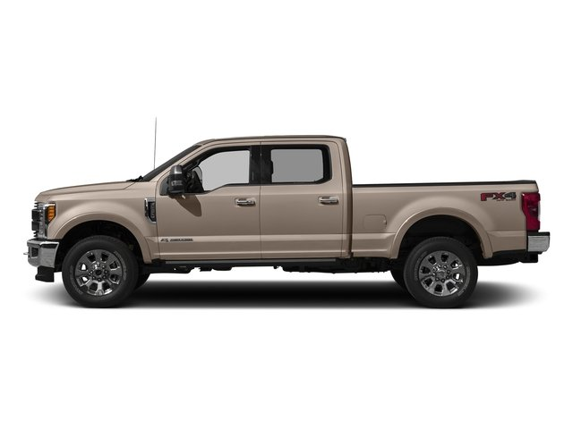 White Gold Metallic 2018 Ford Super Duty F-250 SRW Pictures Super Duty F-250 SRW Crew Cab King Ranch 4WD photos side view