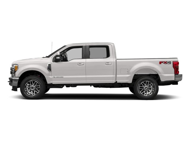 White Platinum Metallic Tri-Coat 2018 Ford Super Duty F-350 SRW Pictures Super Duty F-350 SRW LARIAT 4WD Crew Cab 8' Box photos side view