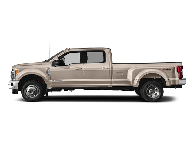 White Gold Metallic 2018 Ford Super Duty F-350 DRW Pictures Super Duty F-350 DRW Crew Cab King Ranch 2WD photos side view
