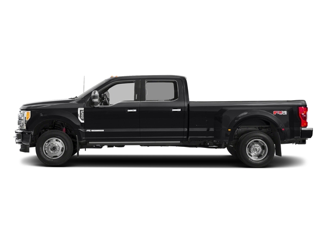 Shadow Black 2018 Ford Super Duty F-350 DRW Pictures Super Duty F-350 DRW Platinum 4WD Crew Cab 8' Box photos side view
