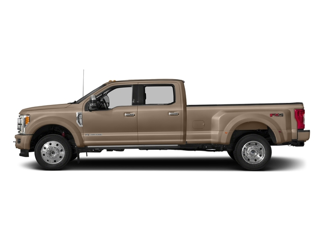 White Gold Metallic 2018 Ford Super Duty F-450 DRW Pictures Super Duty F-450 DRW Platinum 2WD Crew Cab 8' Box photos side view