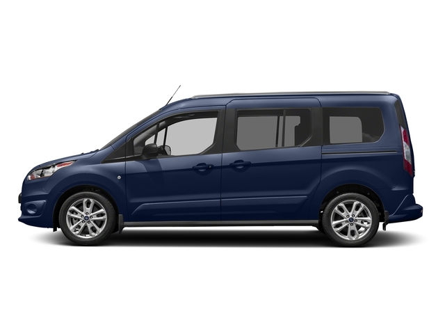 Deep Impact Blue Metallic 2018 Ford Transit Connect Wagon Pictures Transit Connect Wagon XLT SWB w/Rear Symmetrical Doors photos side view