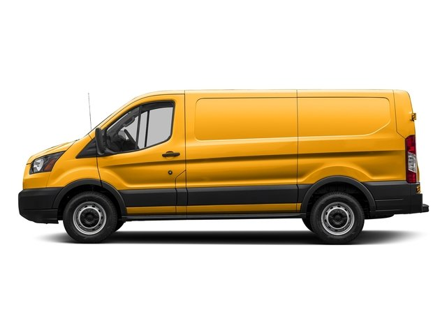 School Bus Yellow 2018 Ford Transit Van Pictures Transit Van T-150 130 Low Rf 8600 GVWR Swing-Out RH Dr photos side view