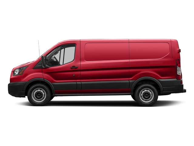 Race Red 2018 Ford Transit Van Pictures Transit Van T-150 130 Low Rf 8600 GVWR Swing-Out RH Dr photos side view