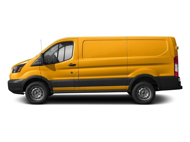 School Bus Yellow 2018 Ford Transit Van Pictures Transit Van T-250 130 Low Rf 9000 GVWR Swing-Out RH Dr photos side view