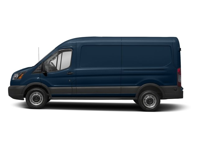 Blue Jeans Metallic 2018 Ford Transit Van Pictures Transit Van T-250 148 Med Rf 9000 GVWR Dual Dr photos side view