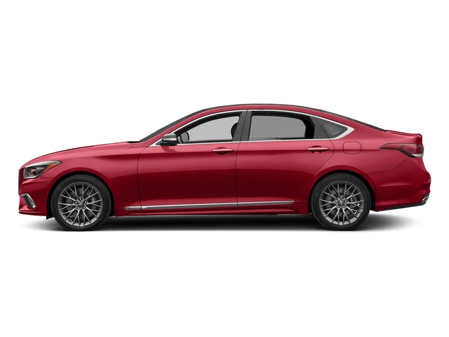 Sevilla Red 2018 Genesis G80 Pictures G80 3.3T Sport AWD photos side view