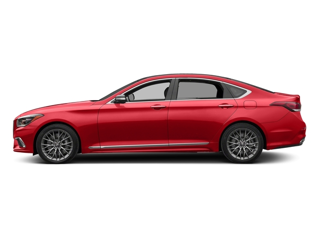 Havana Red 2018 Genesis G80 Pictures G80 3.3T Sport AWD photos side view