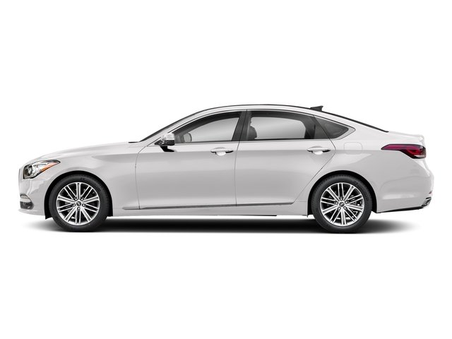 Casablanca White 2018 Genesis G80 Pictures G80 3.8L AWD photos side view