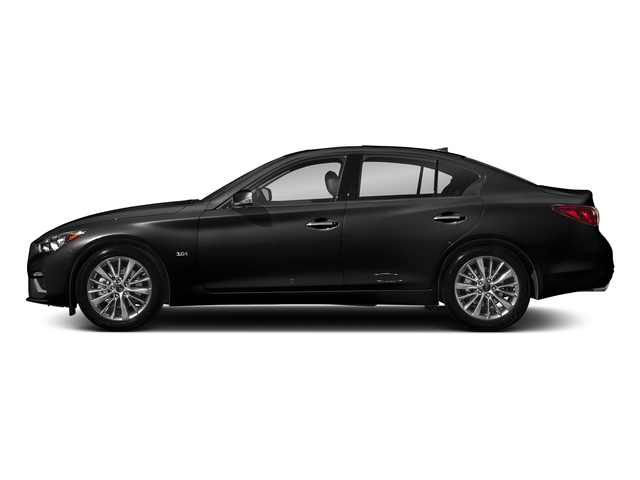 Black Obsidian 2018 INFINITI Q50 Pictures Q50 2.0t PURE RWD photos side view