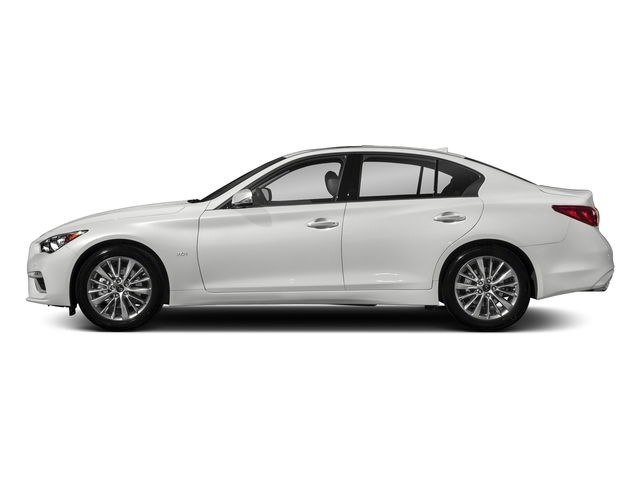 Pure White 2018 INFINITI Q50 Pictures Q50 2.0t PURE RWD photos side view