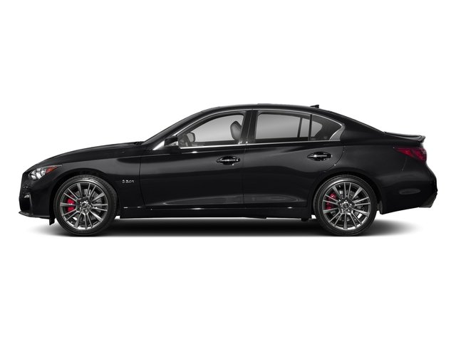 Midnight Black 2018 INFINITI Q50 Pictures Q50 3.0t SPORT AWD photos side view