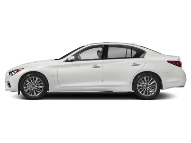 Pure White 2018 INFINITI Q50 Pictures Q50 3.0t LUXE AWD photos side view