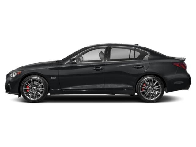 Midnight Black 2018 INFINITI Q50 Pictures Q50 3.0t LUXE AWD photos side view