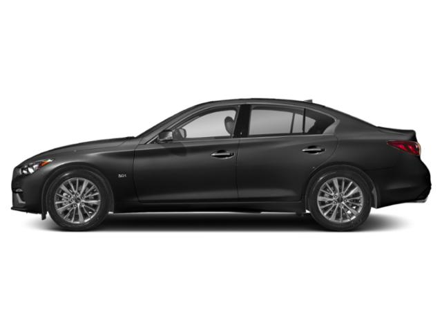 Black Obsidian 2018 INFINITI Q50 Pictures Q50 2.0t LUXE AWD photos side view